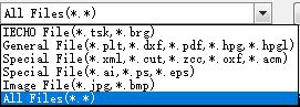 Recognizable file types are diverse